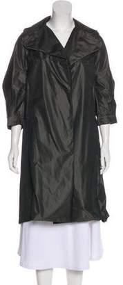 Marni Notch-Lapel Open Front Rain Coat