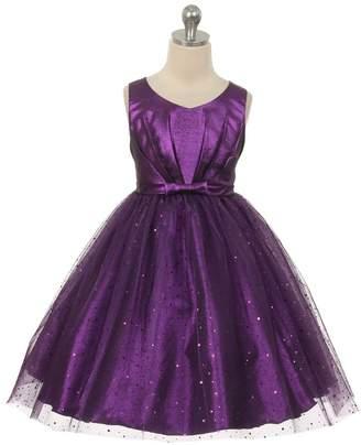 Kids Dream Luna- Sparkly Tulle Dress Purple