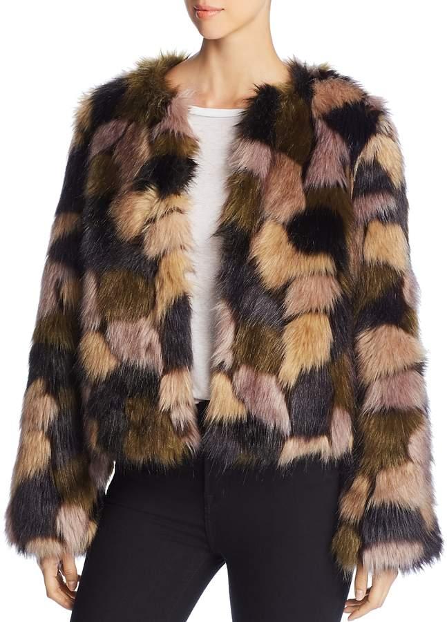 Multicolored Faux Fur Jacket