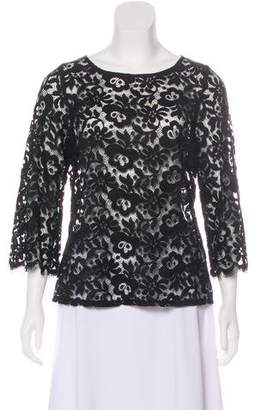 Miguelina Lace Long Sleeve Top