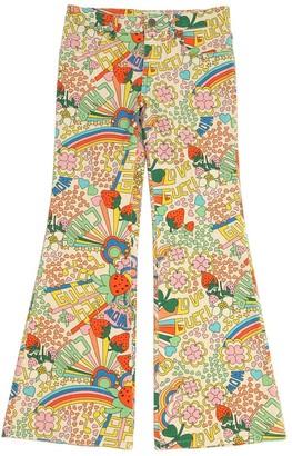 Gucci Rainbow Print Stretch Cotton Denim Jeans