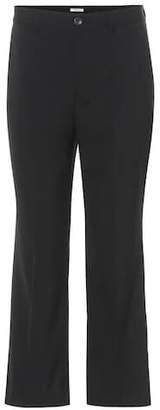 Miu Miu Cropped stretch-wool trousers
