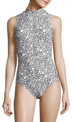 Cover Ashley Printed One-Piece Swimsuit $255 thestylecure.com