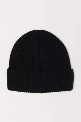 H&M Ribbed hat - Black