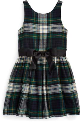 Ralph Lauren Tartan Cotton Twill Dress