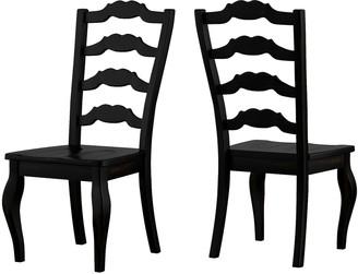 Homevance HomeVance Wood Ladderback Dining Chair 2-piece Set