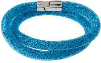 Swarovski Stardust Convertible Crystal Mesh Bracelet/Choker, Blue, Small $60 thestylecure.com