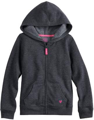 Girls 4-10 Jumping Beans Fleece Zip-Up Hoodie