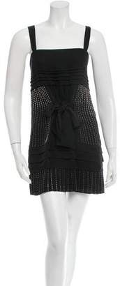 Barbara Bui Silk Embellished Mini Dress
