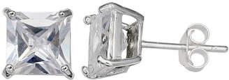 clear SILVER TREASURES Silver Treasures 4mm Stud Earrings