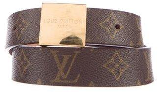 Louis Vuitton Monogram Ceinture Carre Belt $295 thestylecure.com