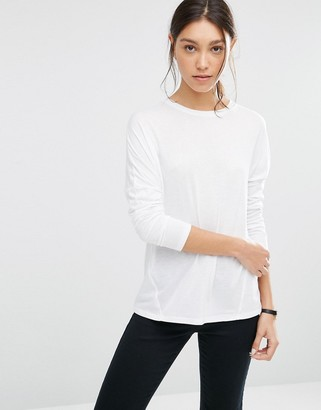 ASOS Linen Mix T-Shirt with Long Sleeves $19 thestylecure.com