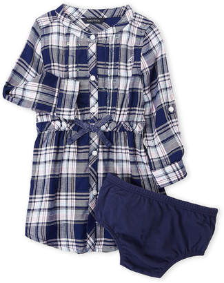 Nautica Infant Girls) Sequin Plaid Dress & Bloomers Set