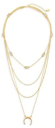 Sterling Forever 14K Gold Vermeil Multi-Layered Necklace