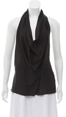 DKNY Silk Halter Top