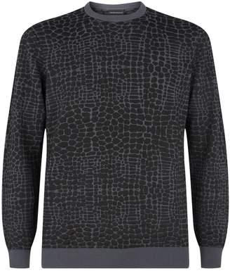 Emporio Armani Leopard Textured Sweater