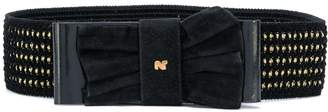 Nina Ricci Pre-Owned bow buckle belt
