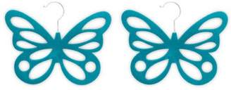Laundry by Shelli Segal Generic 2-Pack Butterfly Scarf Hanger, Turquoise