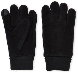 Gloves International Touchscreen Leather & Knit Gloves
