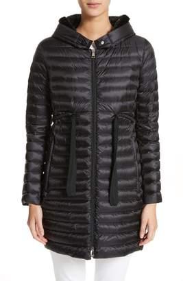 ... Moncler Barbel Hooded Down Coat with Genuine Mink Fur Trim