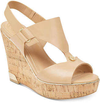 GUESS Women's Hulda Platform Wedge Sandals Women's Shoes