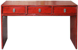 One Kings Lane Vintage Shanxi Red Console