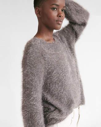 Express Textured Balloon Sleeve Metallic Sweater