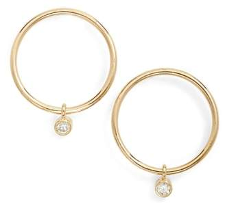 Chicco Zoe Diamond Small Frontal Hoop Earrings