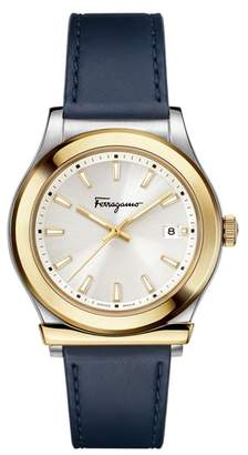 Salvatore Ferragamo 1898 Leather Band Watch, 40mm