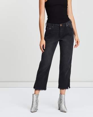 One Teaspoon Truckers Mid-Rise Straight-Leg Jeans