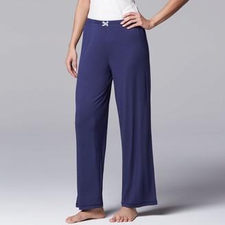 Vera Wang Women's Simply Vera Pajamas: Basic Solid Luxury Pajama Pants