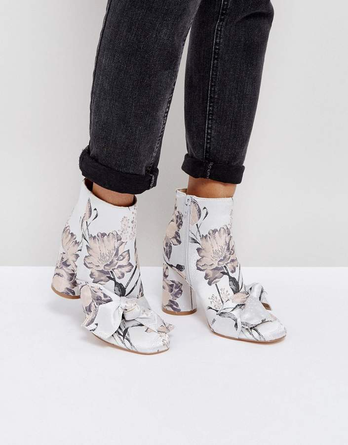 ASOS EARLY SKY Bow Boots