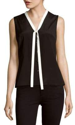 Carolina Herrera Sleeveless Silk-Blend Shirt
