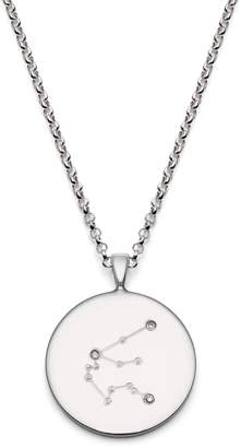 Harry Rocks - Aquarius Constellation Silver & Diamonds Necklace