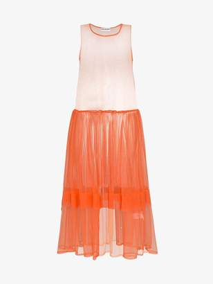 DAY Birger et Mikkelsen Molly Goddard orange sleeveless tulle dress