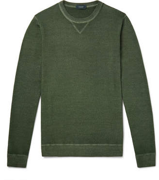 Incotex Garment-Dyed Virgin Wool Sweater