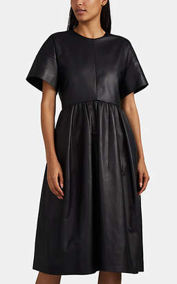 Narciso Rodriguez Women's Leather A-Line Dress - Black