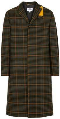 Oamc Green Checked Wool Coat