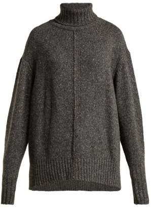 Isabel Marant Harriett Oversized Roll Neck Cashmere Sweater - Womens - Dark Grey