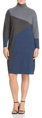 Nic+Zoe Plus Plus Color Block Sweater Dress