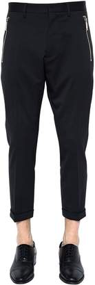 DSQUARED2 16cm Hockney Stretch Wool Pants W/ Zips