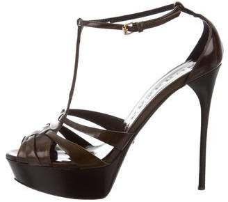 Burberry T-Strap Platform Sandals