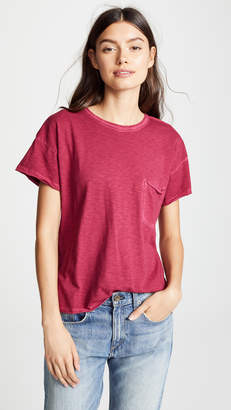 Rag & Bone Vintage Crew with Pocket Tee