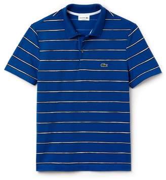 Lacoste Men's Regular Fit Striped Mini Pique Polo