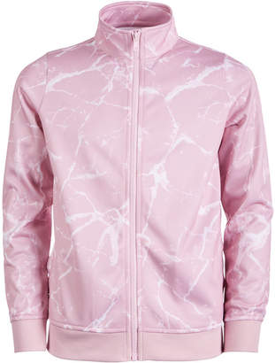 Macy's Ideology Little Girls Marble-Print Active Track Jacket, Created for