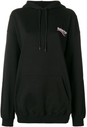 Balenciaga oversized logo hoodie