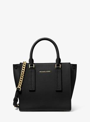 MICHAEL Michael Kors Alessa Small Pebbled Leather Satchel