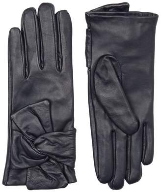 Claudie Pierlot Leather Bow Gloves