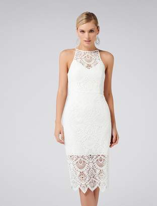 99567a2ee2 Forever New Nadia Lace Pencil Dress - Porcelain - 4