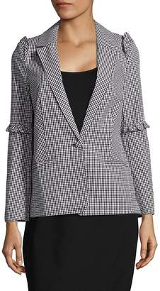 Saks Fifth Avenue RED Women's Gingham-Check Ruffled Jacket